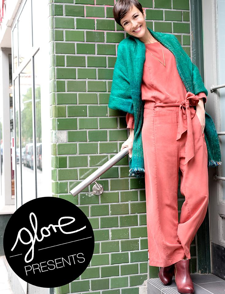 """Eco Fashion, Slow Fashion und grüne Mode mit Tine Fiinell: Glore – Fair Fashion Look mit Jumpsuit aus Tencel - Labels: Nine to Five """"Landsberg"""", Suite 13 """"Malva"""", Fremdformat """"Gertrud"""", Inti Knitwear Schal und Royal Blush """"Diamond Cut Piombo"""""""