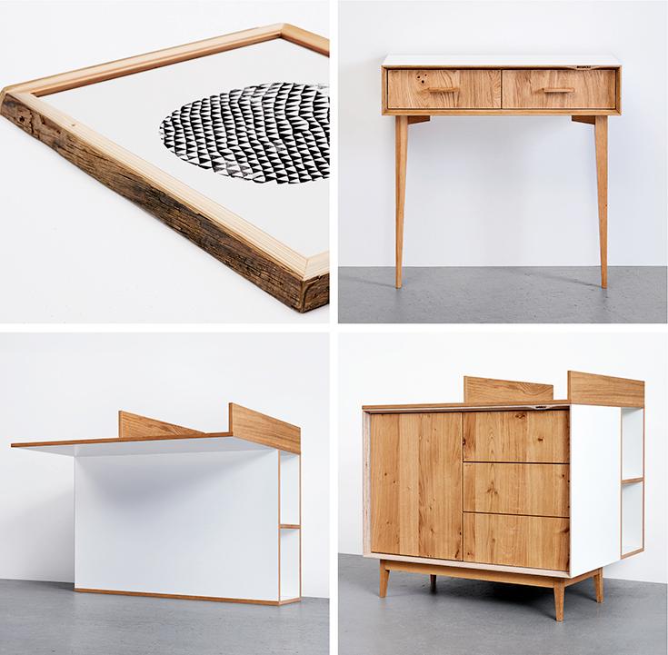 Peppermynta-Hafenholz-Sideboard-Rahmen