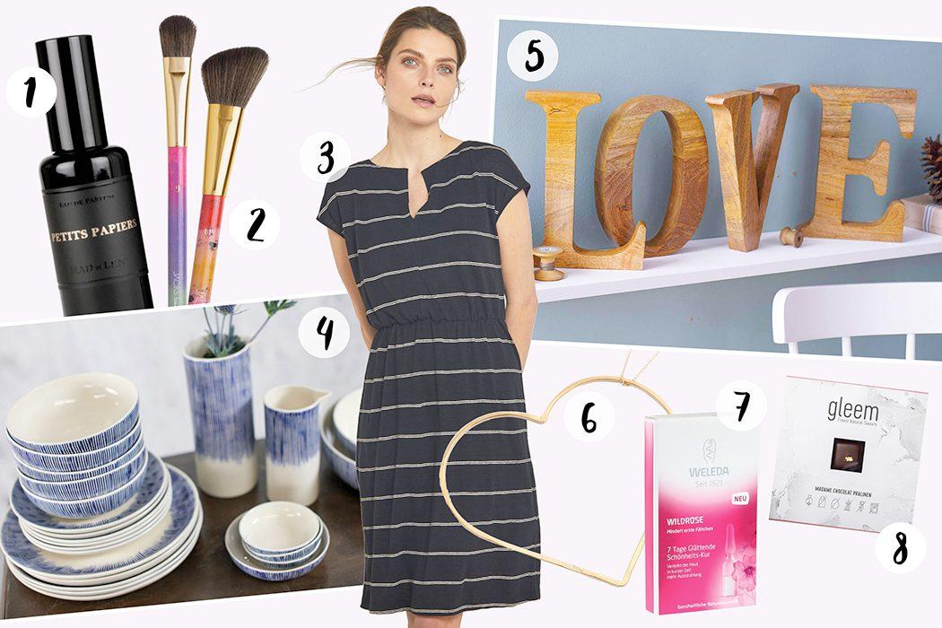 Fair-Fashion-Muttertag-Geschenk-Muttertags-Geschenk-Weleda-Wildrose-Kur-Lanius-Stripess-See-Me-Gleem
