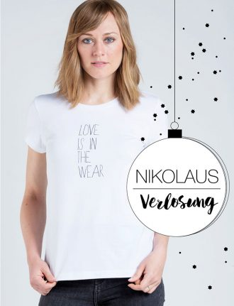 Fair Fashion, Verlosung, Nikolaus: Eyd – Wir verlosen drei »Love is in the wear« T-Shirts