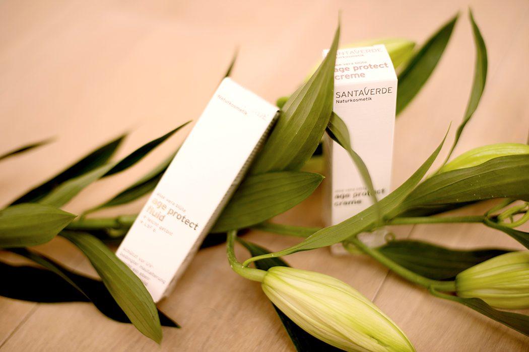 Natural Beauty, Naturkosmetik und natürlich schön: Santaverde - Verlosung Wellness Sets – age protect fluid - age protect creme