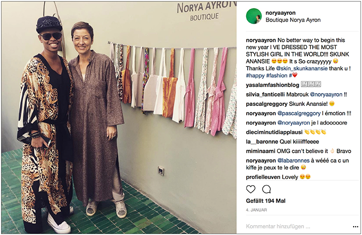 Fair Fashion, Slow Fashion: Norya Ayron – Lieblingslabel von Kate Moss und Sharon Stone – Skunk Anansie