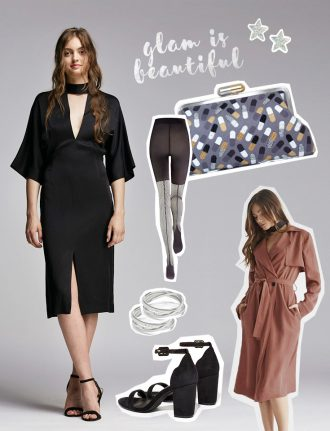 Eco Fashion, Slow Fashion und nachhaltige Mode: Sloris – Fair Fashion Look für Weihnachten - Labels: Kunert Fashion, Sarahs Bag, People Tree, Edge of Ember, Susi Studio, Vetta Capsule, Thoreau
