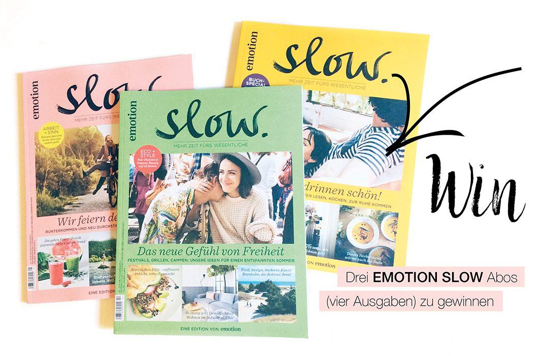 Nachhaltig leben mit Emotion SLOW Magazin – Mehr Zeit fürs Leben