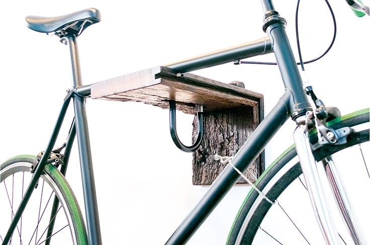 Peppermynta-Hafenholz-Fahrradhalter