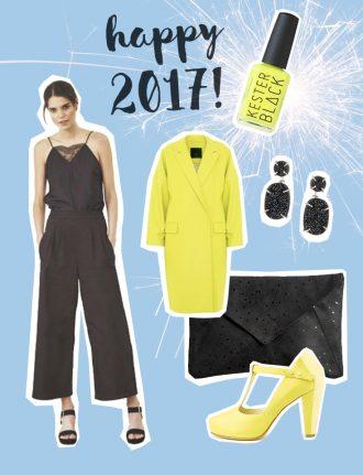 Fair Fashion, Slow Fashion und Eco Fashion: SLORIS – FAIR FASHION LOOK FÜR SILVESTER - Jumpsuit Nine to five, Kester Black Acid