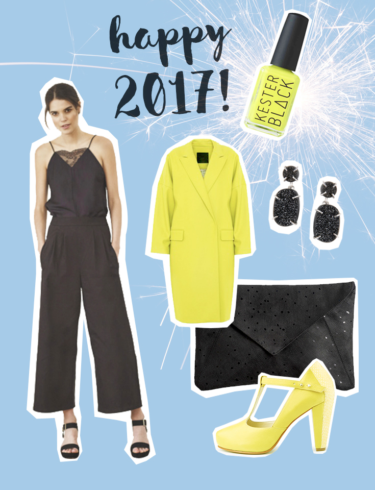Fair Fashion, Slow Fashion und Eco Fashion: SLORIS – FAIR FASHION LOOK FÜR SILVESTER - Jumpsuit Nine to five, Kester Black Acid