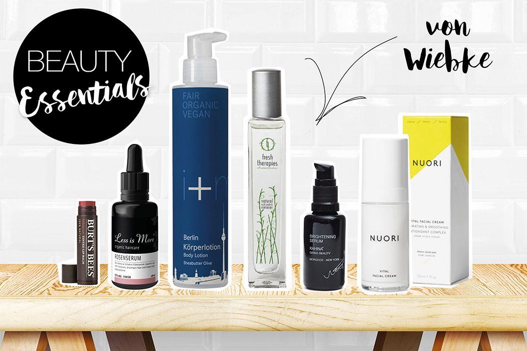 Natural Beauty, natürliche Kosmetik und natürlich schön: Lieblings-Naturkosmetik: Beauty-Essentials von Wiebke Kaiser