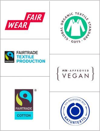 Fair Fashion & ökologische Mode – Zertifilate und Siegel für nachhaltige Textilien, Siegel Dschungel: Fair Wear Foundation, Fairtrade Textilsiegel, GOTS, Global Organic Textile Standard, PETA, IVN BEST