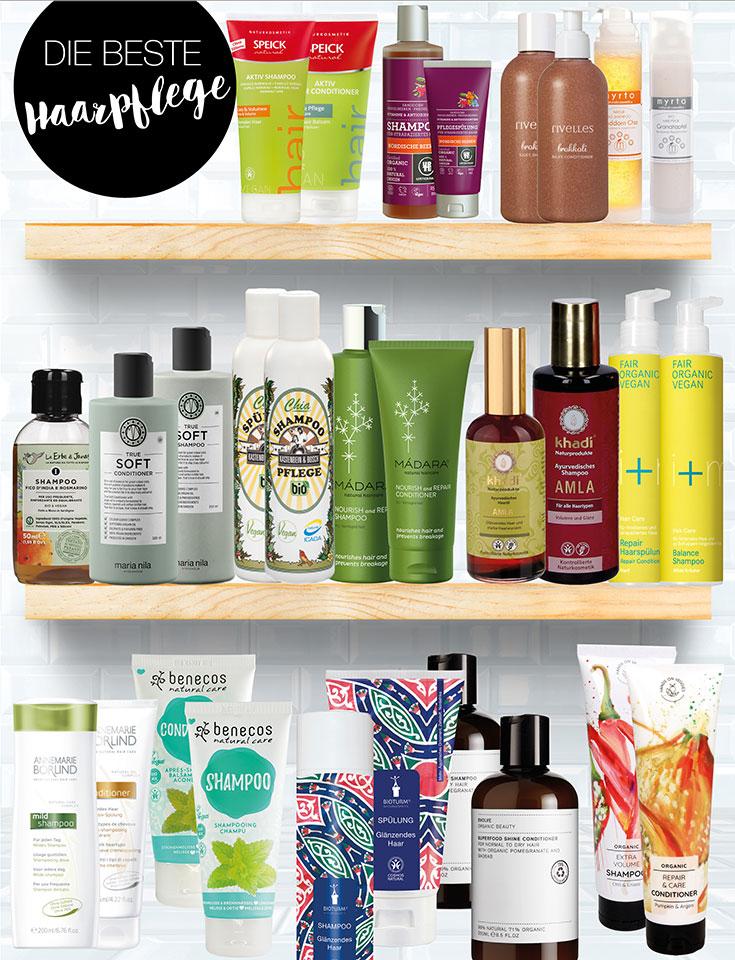 Naturkosmetik Haarpflege – Unsere Top 15 Shampoo, Conditioner & Co.
