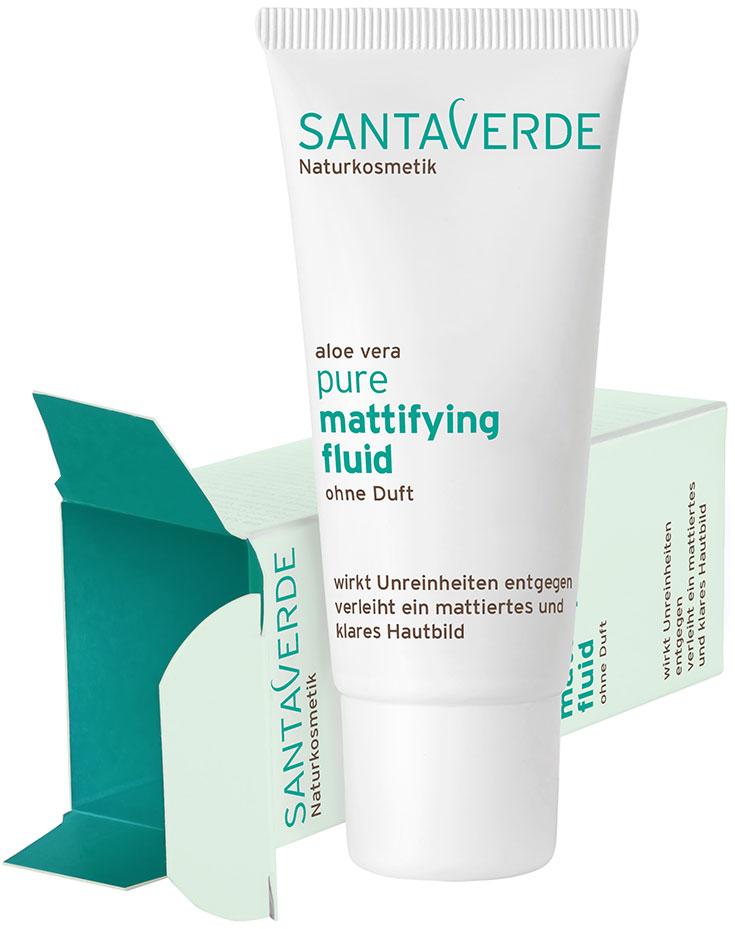 Santaverde »pure« – Mit Naturkosmetik gegen unreine Haut-Peppermynta-Peppermint-Naturkosmetik-Santaverde-Pure-Mattifying-Fluid-Aloe-Vera