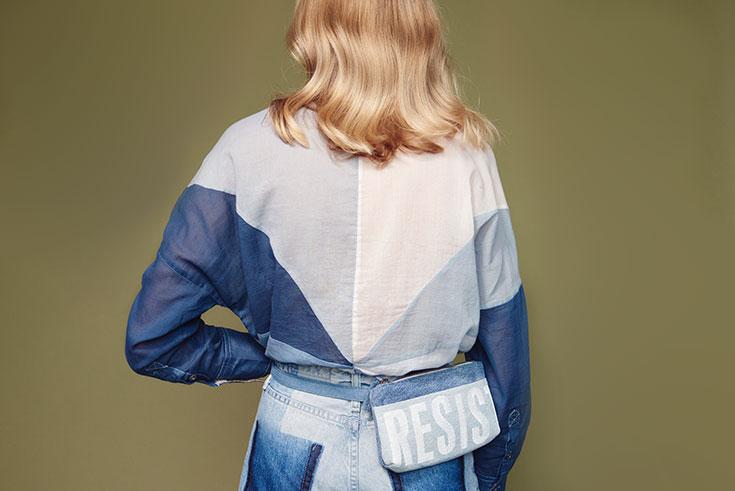 Peppermynta Peppermint Fair Fashion, Slow Fashion, grüne Mode und nachhaltige Mode: Hipsters for Sisters: vegane Tasche vegane Tasche aus Denim, Jeans, Upcycling, Bauchtasche, Bauchtaschen