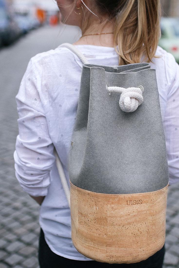 Peppermynta Peppermint Fair Fashion, Slow Fashion, grüne Mode und nachhaltige Mode: Ulsto: vegane Tasche vegane Tasche aus Korkleder