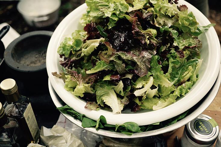 Witterung – ein kulinarisches Festmahl unter freiem Himmel: Salat