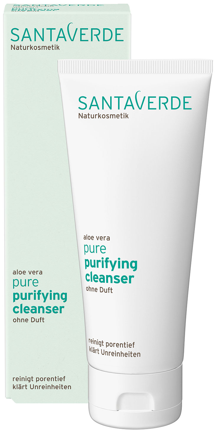 Santaverde Pure – Mit Naturkosmetik gegen unreine Haut: Cleanser