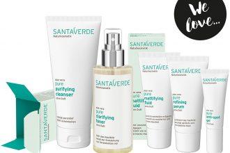 Santaverde Pure – Mit Naturkosmetik gegen unreine Haut: Cleanser, Toner, Serum, Fluid, Anti Spot Gel