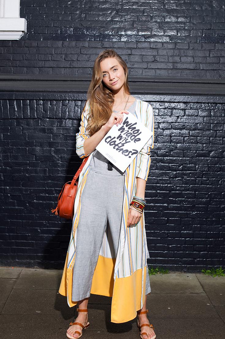 Fashion Revolution Week 2019 #whomademyclothes: Jil Zeletzki von Jiliciousjourney trägt Lovjoi und Jyotii, Tasche von Hiitu