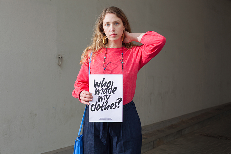 Fashion Revolution Week 2019 #whomademyclothes: Lara Keuten, Redaktionsleiterin bei Peppermynta, trägt Fair Fashion von Hessnatur