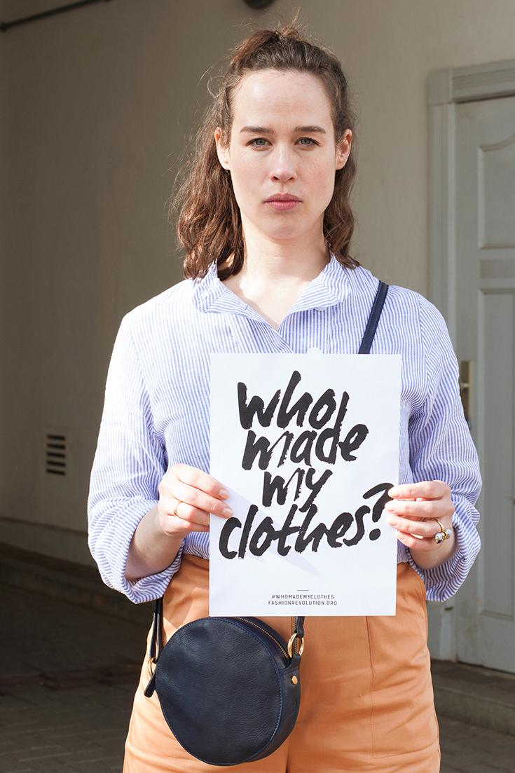 Fashion Revolution Week 2019 #whomademyclothes: Luzie Buck von Cream Karma trägt Lara Organics