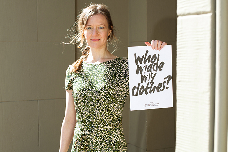 Fashion Revolution Week 2019 #whomademyclothes: Nina Nestler trägt ein Kleid von King Louie