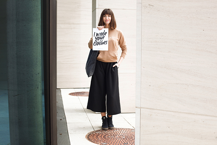 Fashion Revolution Week 2019 #whomademyclothes: Sarah Runge von Merijula trägt Fair Fashion von Lovjoi, Dzaino und King Louie