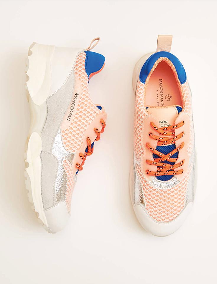 Maison Mangostan – Eco Sneaker für große und kleine Fair Fashionistas: Goji Gauzy Orange