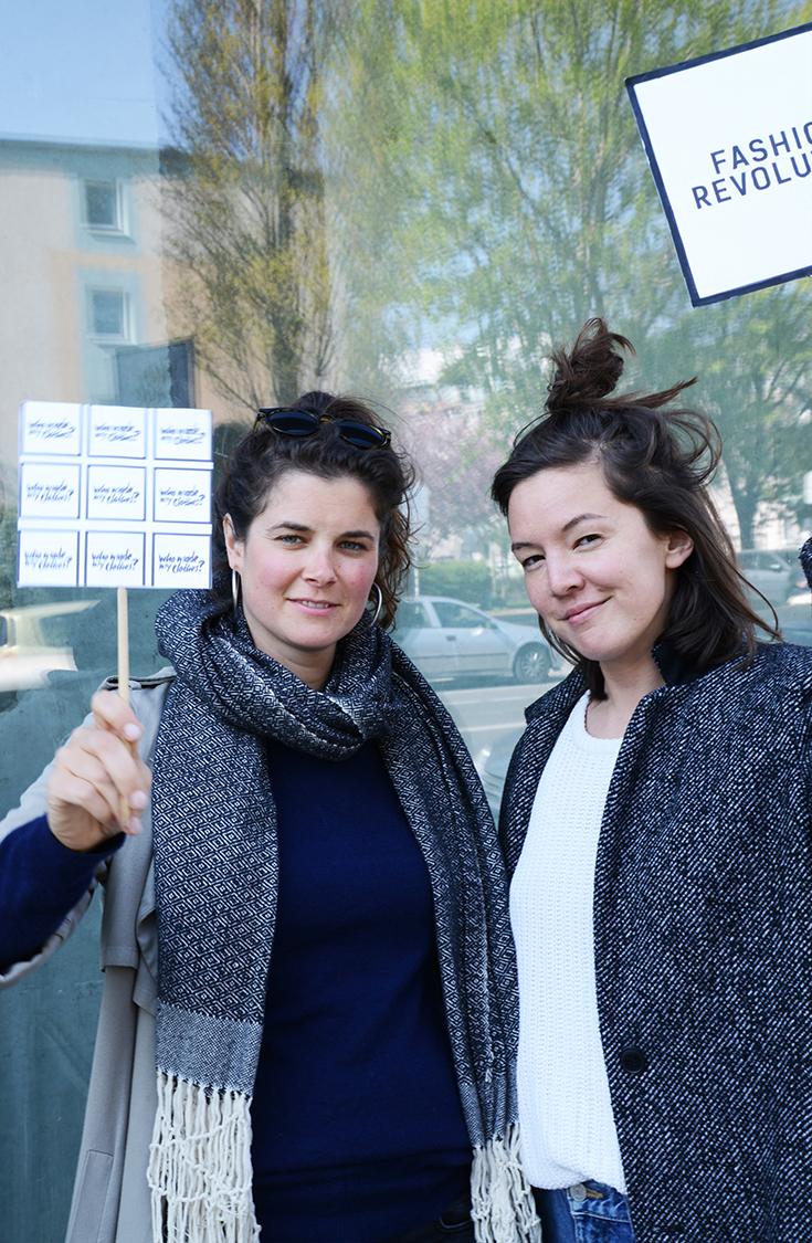 Fashion Revolution Week 2019 – Eine Bewegung für faire Mode und gegen Fast Fashion: Ariane Piper und Hanna Sin Gebauer (Gründerin von Dzaino)