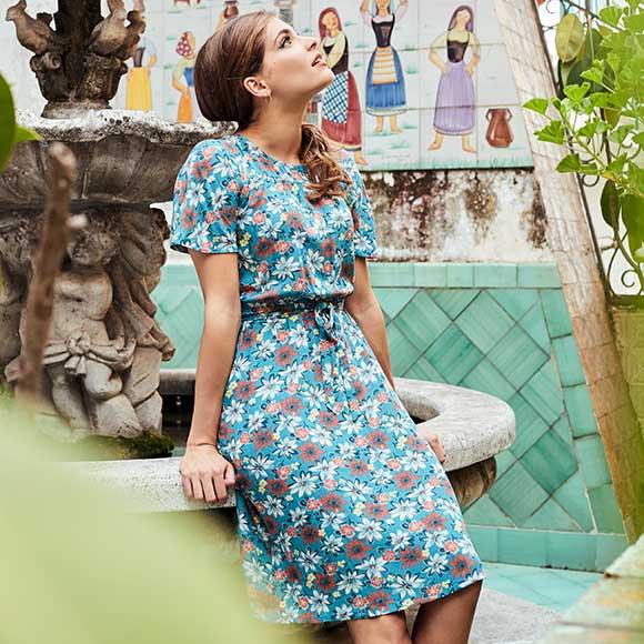 Peppermynta Brandfinder: King Louie. Fair Fashion im Vintage Stil mit einem modernem Twist! Schmeichelnde Schnitte, ausgefallene Muster, farbenfroh & stilvoll. Nachhaltige und faire Produktion