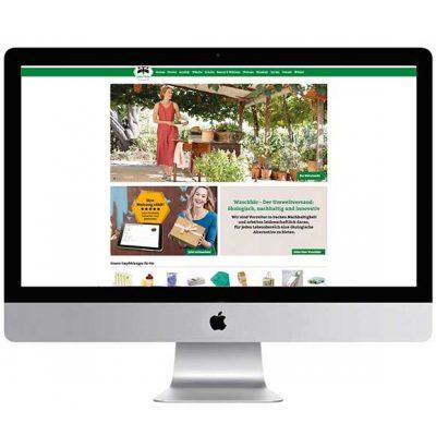 Peppermynta Brandfinder: Waschbär Umweltversand. Naturmode und umweltgerechte Bioprodukte für alle Lebensbereiche. Geprüfte Öko-Qualität aus sozialverträglicher Herstellung!