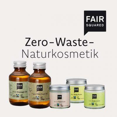 Peppermynta Brandfinder: Fair Squared. Das Naturkosmetik Label stellt vegane Kosmetik Produkte her, die den Fairen Handel unterstützen, Zero Waste Naturkosmetik, Pfandsystem