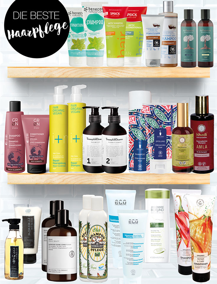Naturkosmetik Haarpflege – Unsere Top 15 Shampoo, Conditioner & Co. 2019