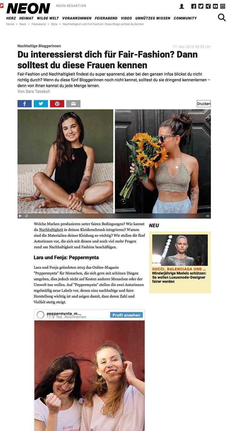Peppermynta Presse Veröffentlichung: Stern und Neon