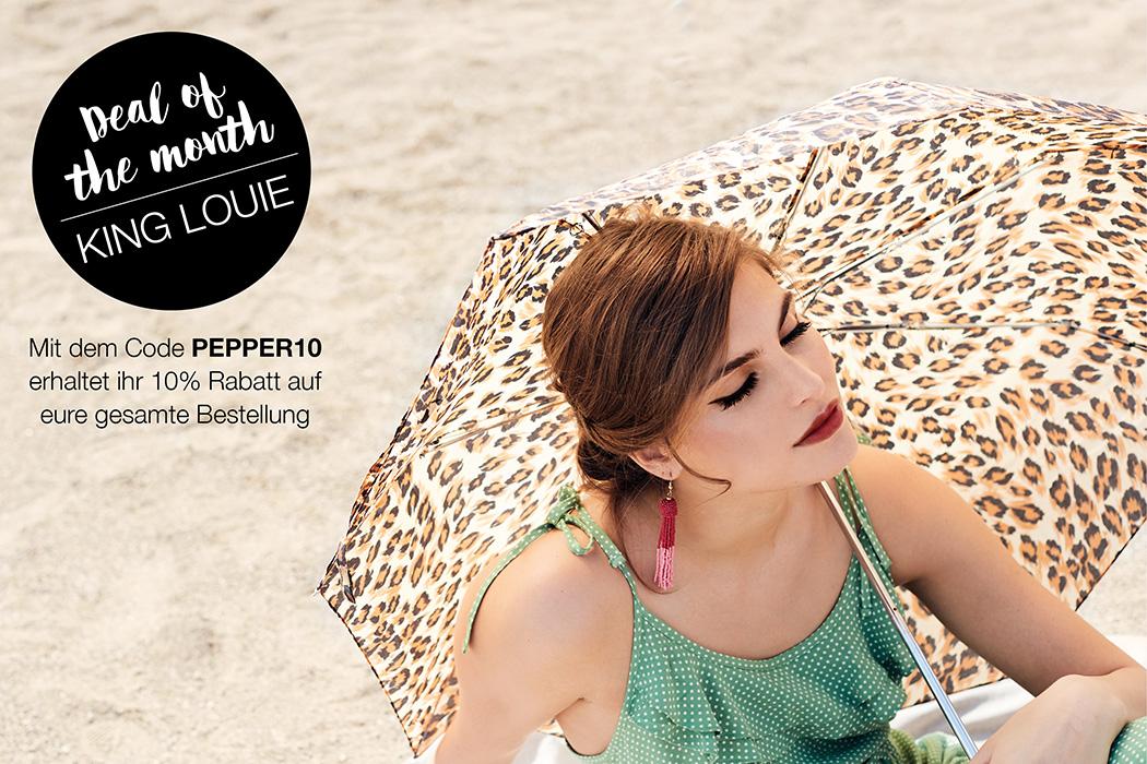 Peppermynta Brandfinder: King Louie. Fair Fashion im Vintage Stil mit einem modernem Twist! Schmeichelnde Schnitte, ausgefallene Muster, farbenfroh & stilvoll. Nachhaltige und faire Produktion. Rabattcode
