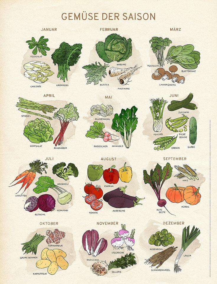 61393e1309dc6a Eco Lifestyle  Greenpeace Poster – Gemüse der Saison