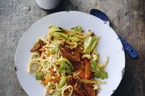 Eco-Lifestyle-Kochbuch-Rezept-Meat-the-Green-Hiltl-vegetarisches-Entenfilet-Teryaki-Udon-Nudeln