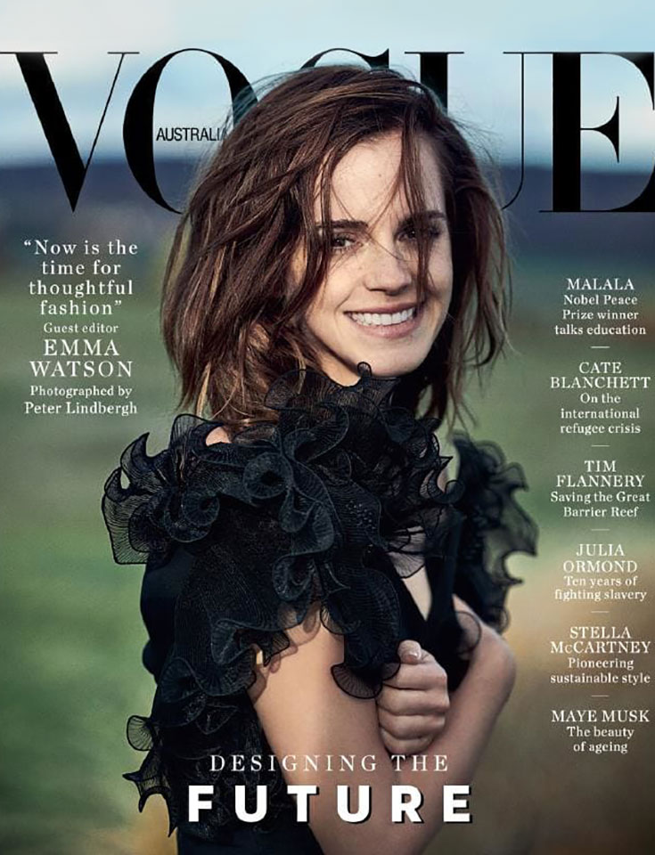 Fair Fashion: Emma Watson X Vogue Australia Designing The Future
