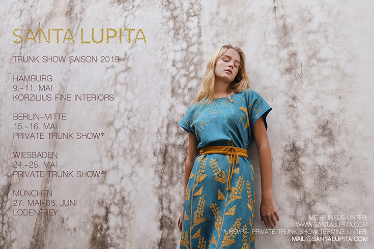 Santa Lupita – Handbestickte Fair Fashion aus Mexiko: Trunk Show Pop Up Termine