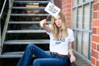 Fair Fashion, Eco Fashion: STAND UP! Make a Statement und engagiere dich! – politisches Statement T-Shirt – Nina Hnizdo