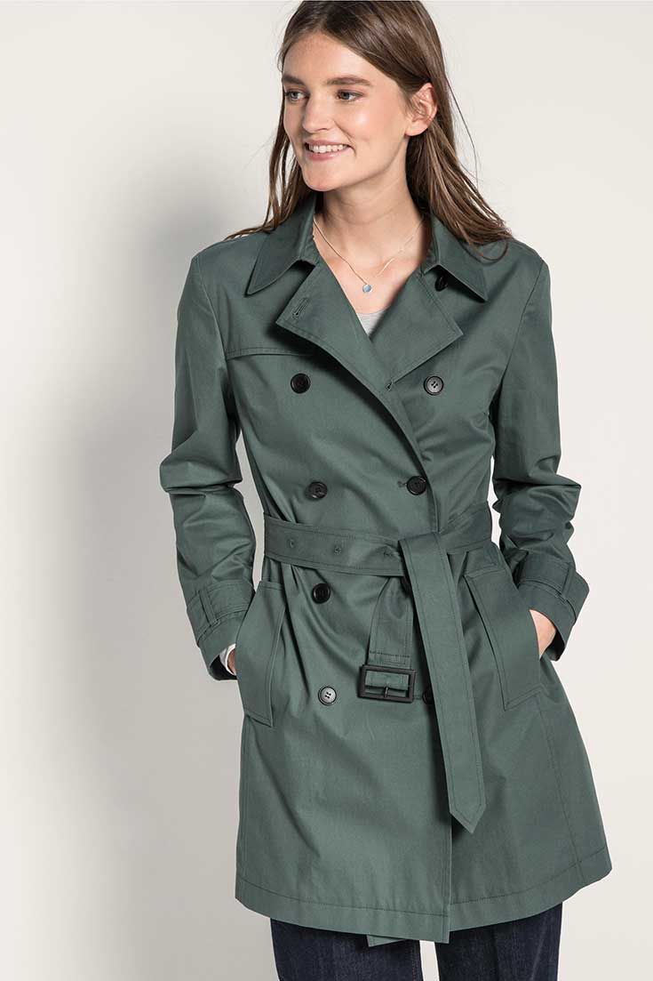 Fair Fashion Trench Coat – Unsere liebsten Trenchcoats für den Sommer: Hessnatur Kurz Trench