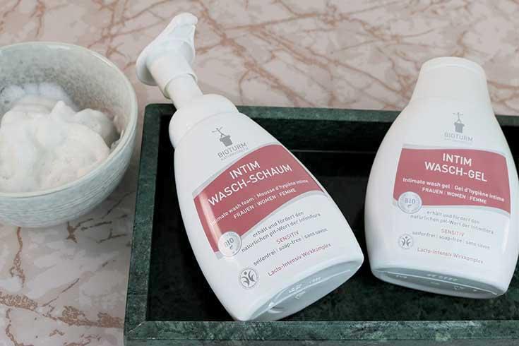 Bioturm Intimpflege – Endlich eine milde Naturkosmetik Intimpflege Serie: Intim Wasch-Schaum, Intim Wasch-Lotion