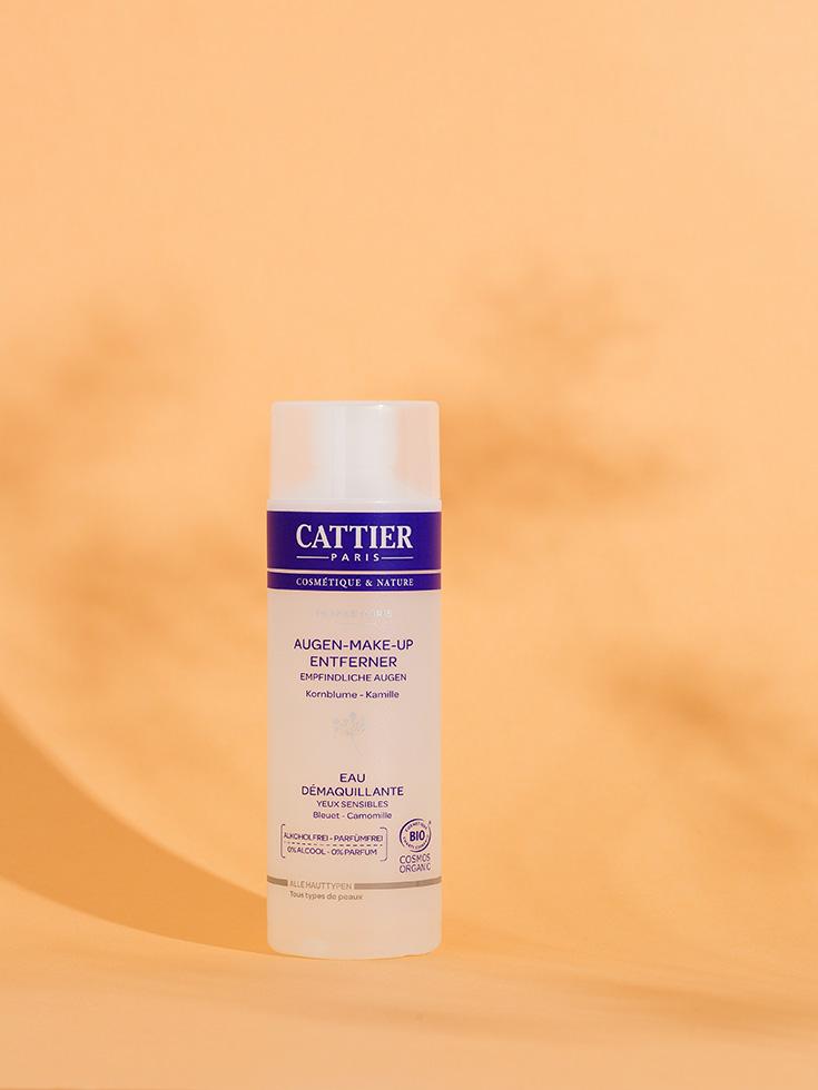 Clean Beauty – Naturkosmetik Gesichtsreinigung mit Cattier: Augen-Make-Up-Entferner