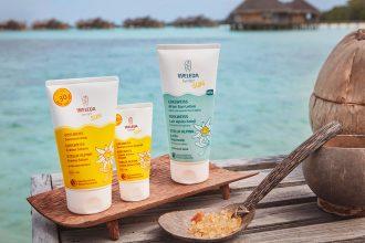 Naturkosmetik-Weleda-Sonnencreme-Sonnenschutz-Apres-Lotion-Edelweiss-Malediven-Gili-Lankanfushi-Watervilla
