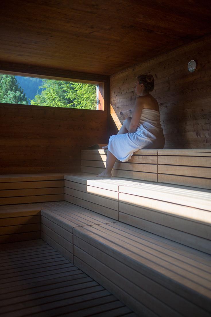 Arosea Life Balance – das Naturhotel im Ultental in Südtirol: Natur Sauna