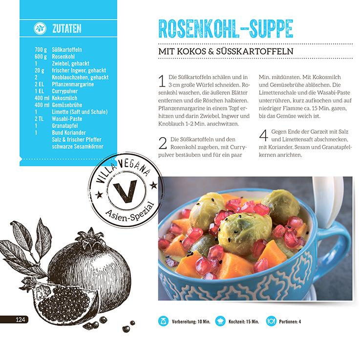 Villa Vegana – Wir verlosen dreimal das Kochbuch »Vegan aus aller Welt«, vegane Rezepte:Rosenkohlsuppe