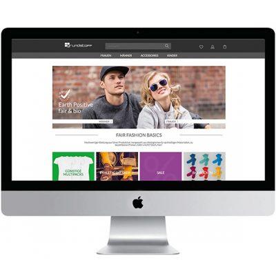 Peppermynta Brandfinder: Grundstoff. Neben Fair Fashion Basics für Frauen und Männer der Onlineshop eine große Auswahl an fairer Kleidung für Kinder sowie Accessoires an.