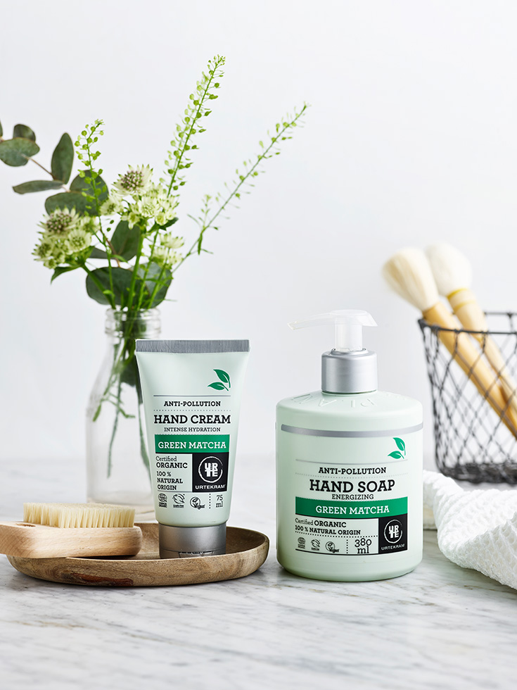 Urtekram Pflegeserie »Green Matcha« – Naturkosmetik und grüner Tee: Handseife, Handcreme, Hand Cream