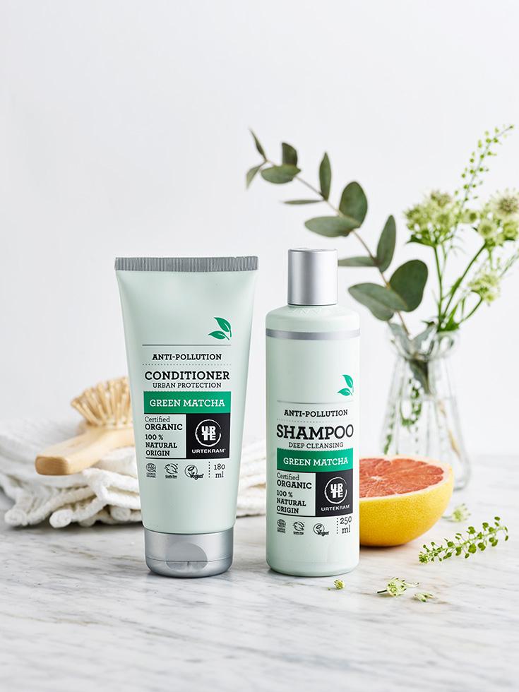 Urtekram Pflegeserie »Green Matcha« – Naturkosmetik und grüner Tee: Conditioner, Haar Spülung, Shampoo