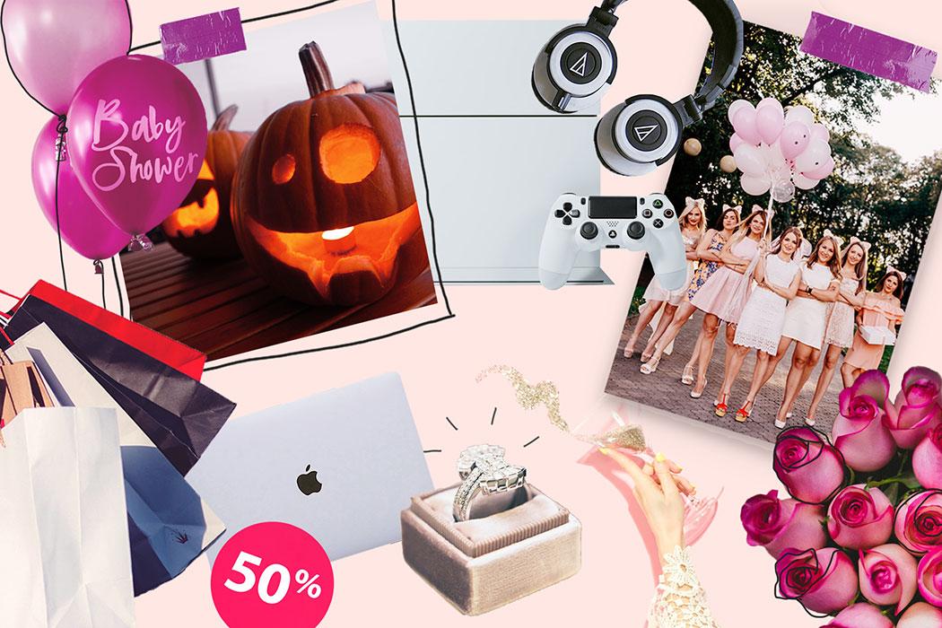 Der schwarze Freitag – warum Konsum kein Grund zu feiern ist: Valentinstag, Halloween, Cyber Monday, Black Friday, Singles Day, Baby Shower, Bridal Shower
