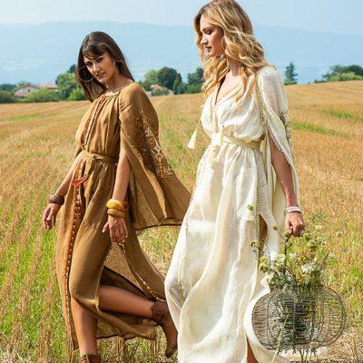Peppermynta Brandfinder: My Sleeping Gypsy. Das Fair-Fashion Label fertigt ornamentbesetzte Kleider, Blusen und Jumpsuits aus Leinen, inspiriert von ukrainischer Folklore. Boho-Style at its best!