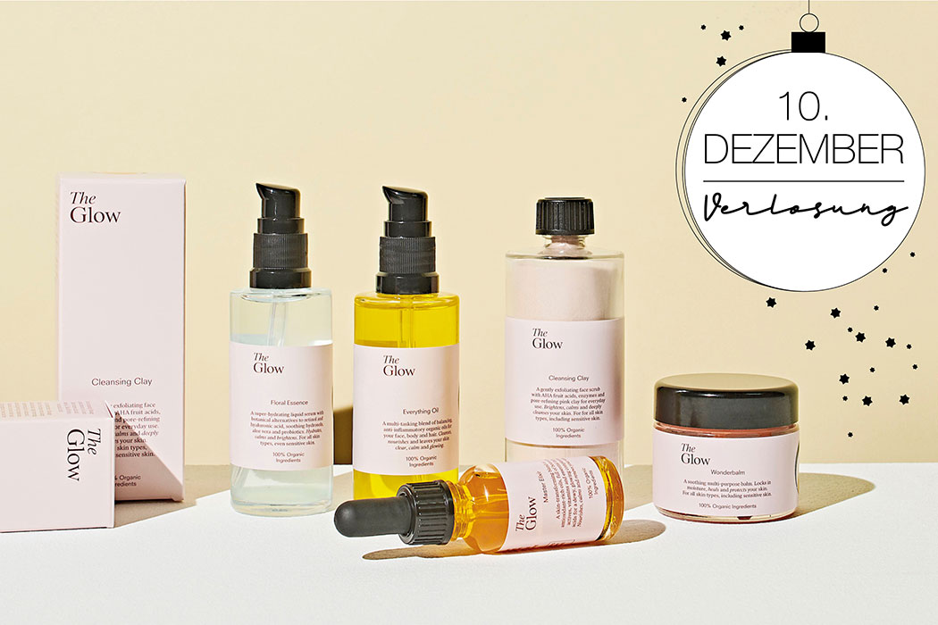 The Glow – 5 Naturkosmetik Produkte für die perfekte Pflege-Routine nach dem Baukastenprinzip. Alles ist mit allem kombinierbar. Everything Oil, Wonderbalm, Cleansing Clay, Floral Essence, Everything Oil, Master Elixir